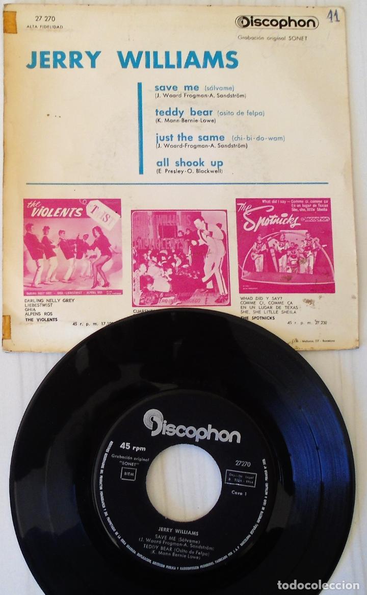 Discos de vinilo: JERRY WILLIAMS - SAVE ME + 3 TEMAS DISCOPHON - 1964 - Foto 2 - 144875142