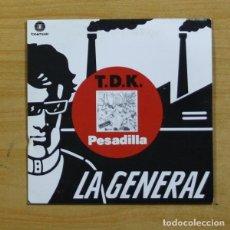 Discos de vinilo: T D K - PESADILLA - SINGLE. Lote 152755233