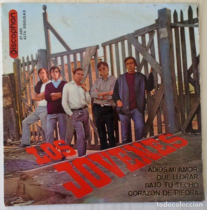 LOS JOVENES - ADIOS, MI AMOR + 3 TEMAS DISCOPHON - 1965 (Música - Discos de Vinilo - EPs - Grupos Españoles 50 y 60)