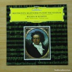 Discos de vinilo: BEETHOVEN / WILHELM KEMPFF - KLAVIERKONZERT NR 5 ES DUR - LP. Lote 214125290
