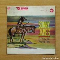 Disques de vinyle: SONNY JAMES - APACHE MAGNETISM - SINGLE. Lote 144878261