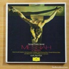 Discos de vinilo: HANDEL - EL MESIAS - BOX 3 LP. Lote 144878573