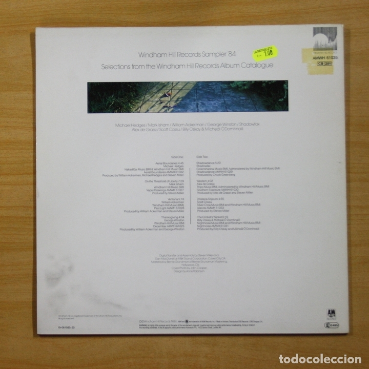 Discos de vinilo: VARIOS - WINDHAM HILL RECORDS SAMPLER 84 - LP - Foto 2 - 144886792