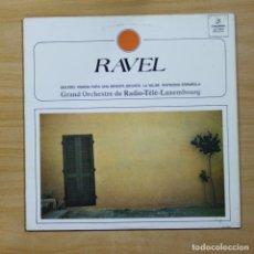 Discos de vinilo: RAVEL - BOLERO / PAVANA PARA UNA INFANTA DIFUNTA / LA VALSE / RAPSODIA ESPA?LA - LP. Lote 144887012