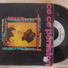 Disques de vinyle: CE CE PENISTON - WE GOT A LOVE THANG - SINGLE 1991 - AM. Lote 144888842