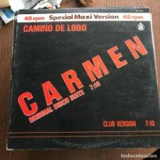 Discos de vinilo: CAMINO DE LOBO - CARMEN - 12'' MAXISINGLE HISPAVOX 1983. Lote 144889966