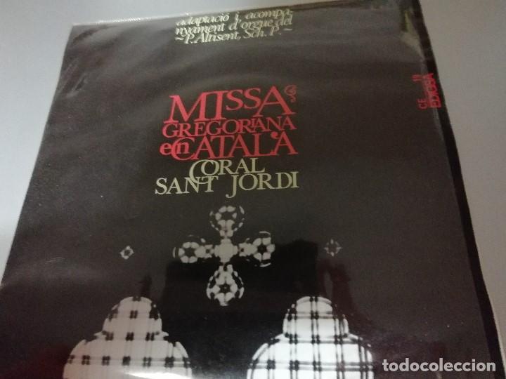 MISSA GREGORIANA EN CATALÀ - MIQUEL ALTISENT - CORAL SANT JORDI - ORIOL MARTORELL - EDIGSA 1965 (Música - Discos de Vinilo - EPs - Clásica, Ópera, Zarzuela y Marchas)