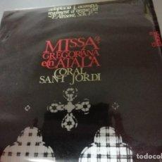 Discos de vinilo: MISSA GREGORIANA EN CATALÀ - MIQUEL ALTISENT - CORAL SANT JORDI - ORIOL MARTORELL - EDIGSA 1965. Lote 144891818