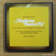 Discos de vinilo: PUCCINI - MADAMA BUTTERFLY - CONTIENE LIBRETO - BOX 3 LP. Lote 144891836