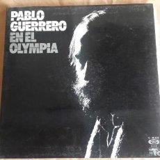 Discos de vinilo: LP VINILO PABLO GUERRERO EN EL OLIMPIA. MOVIE PLAY 1975. MUY BUEN ESTADO. Lote 144897702