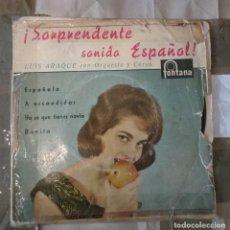 Discos de vinilo: LUIS ARAQUE CON ORQUESTA Y COROS -.SORPRENDENTE SONIDO ESPAÑOL. Lote 144902710