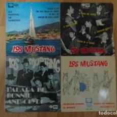 Discos de vinilo: LOTE DE 4 SINGLES Y EP'S DEL GRUPO LOS MUSTANG. Lote 144918942
