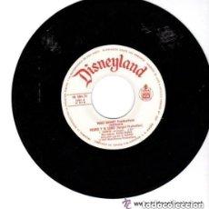Discos de vinilo: CUENTODISCO WALT DISNEY PEDRO Y EL LOBO, SINGLE DISNEYLAND 1977 (SOLO DISCO). Lote 144927114