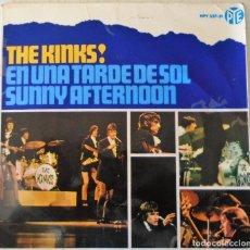 Discos de vinilo: THE KINKS - EN UNA TARDE DE SOL + 3 TEMAS HISPAVOX - 1966. Lote 144947758