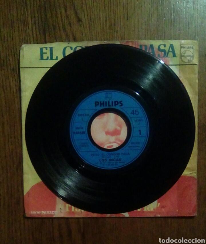 Discos de vinilo: Los Incas - El condor pasa / Risas de Bolivia, Philips, 1973. France - Foto 3 - 144958124