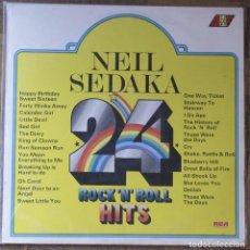Discos de vinilo: NEIL SEDAKA. ROCK AND ROLL HITS. RCA, HY 1005. ENGLAND, 1975.. Lote 144959490