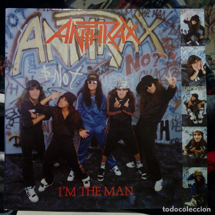 ANTHRAX. I´M THE MAN. EP 12'' VINILO ARIOLA ESPAÑA 1987 ( 6 TRACKS ) HEAVY METAL (Música - Discos de Vinilo - EPs - Heavy - Metal)