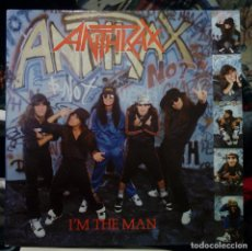 Discos de vinilo: ANTHRAX. I´M THE MAN. EP 12'' VINILO ARIOLA ESPAÑA 1987 ( 6 TRACKS ) HEAVY METAL. Lote 145020062