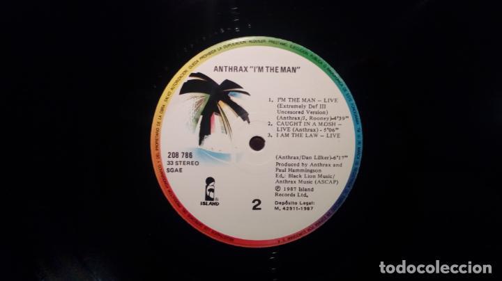 Discos de vinilo: ANTHRAX. I´M THE MAN. EP 12 VINILO ARIOLA ESPAÑA 1987 ( 6 TRACKS ) HEAVY METAL - Foto 3 - 145020062