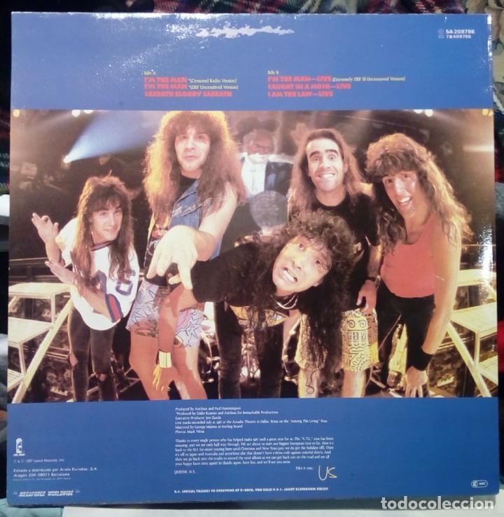 Discos de vinilo: ANTHRAX. I´M THE MAN. EP 12 VINILO ARIOLA ESPAÑA 1987 ( 6 TRACKS ) HEAVY METAL - Foto 4 - 145020062