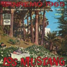 Discos de vinilo: LOS MUSTANG / SE PIANGI + 3 (EP 1965). Lote 145033714