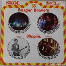 Discos de vinilo: BURGER BRAVO'S. BLOQUE. ASFALTO. MORIS. TOPO. EP PROMOCIONAL CHAPA. Lote 145034754