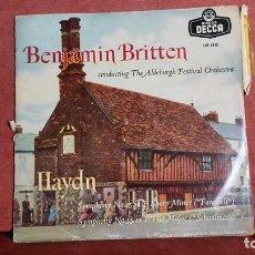 Discos de vinilo: HAYDN. DIRECTOR BENJAMIN BRITTEN. Lote 145036100