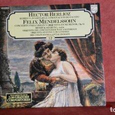 Discos de vinilo: HECTOR BERLIOZ- FELIX MENDELSSOHN. Lote 145036128