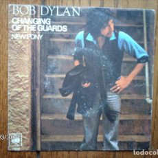 Discos de vinilo: BOB DYLAN - CHANGING OF THE GUARDS + NEW PONY . Lote 145038342