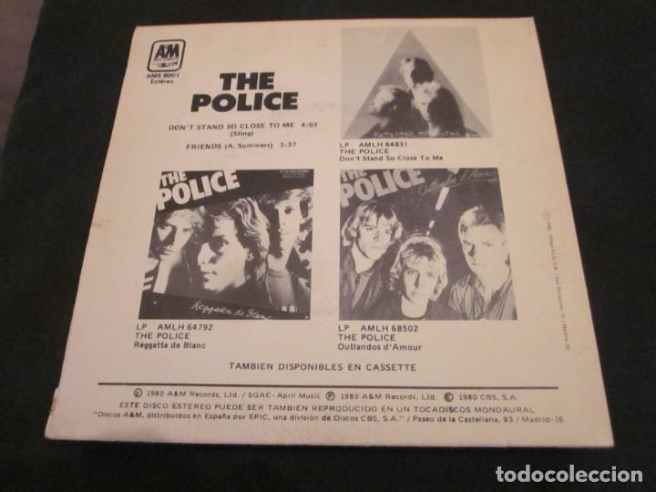 Discos de vinilo: THE POLICE - DONT STAND SO CLOSE TO ME - EDICION ESPAÑOLA DEL AÑO 1980. - Foto 2 - 145046362