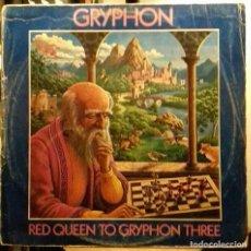 Discos de vinilo: GRYPHON RED QUEEN LP FOLK PROGRESIVO UK. Lote 118945531