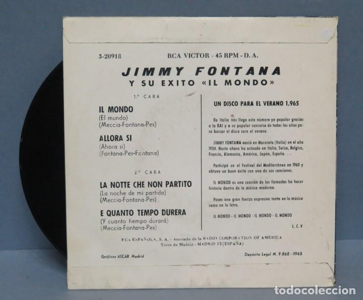 Ep Jimmy Fontana Il Mondo Kaufen Vinyl Schallplatten Ep Mit