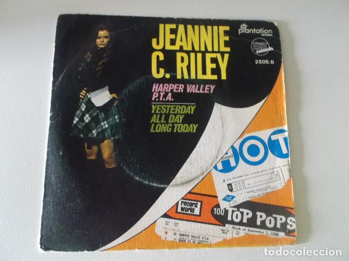 JEANNIE C. RILEY – HARPER VALLEY P.T.A. / YESTERDAY ALL DAY LONG TODAY SELLO: EXIT RECORDS (4) (Música - Discos - Singles Vinilo - Country y Folk)