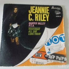 Discos de vinilo: JEANNIE C. RILEY – HARPER VALLEY P.T.A. / YESTERDAY ALL DAY LONG TODAY SELLO: EXIT RECORDS (4). Lote 145096614