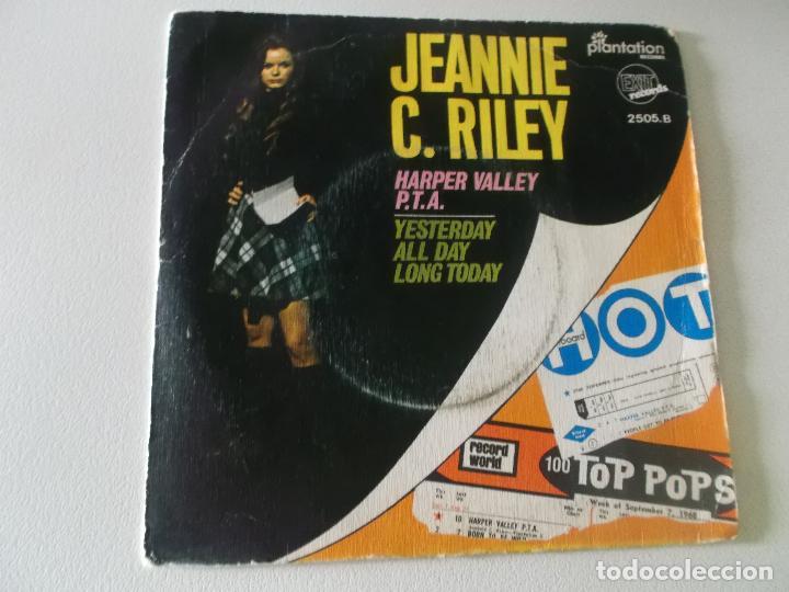 Discos de vinilo: Jeannie C. Riley – Harper Valley P.T.A. / Yesterday All Day Long Today Sello: Exit Records (4) - Foto 2 - 145096614