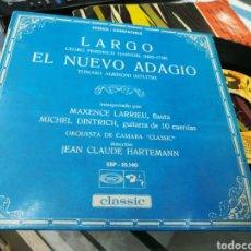Discos de vinilo: MAXENCE LARRIEU / MICHEL DINTRICH SINGLE LARGO - EL NUEVO ADAGIO 1969 ESPAÑA. Lote 145100804