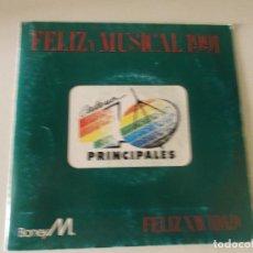 Discos de vinilo: BONEY M. FELIZ NAVIDAD 1991 SINGLE VINILO PROMOCIONAL ESPECIAL PARA CADENA 40 PRINCIPALES. Lote 145101450