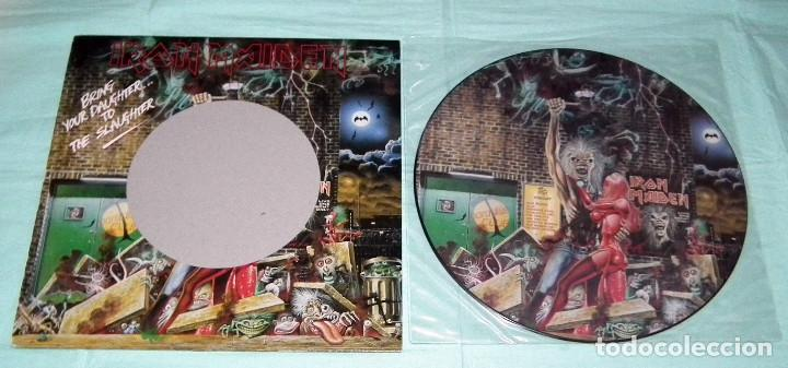 Discos de vinilo: MAXI PICTURE DISC IRON MAIDEN - BRING YOUR DAUGHTER TO THE SLAUGHTER - Foto 3 - 145127846
