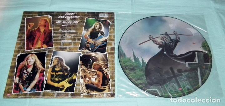 Discos de vinilo: MAXI PICTURE DISC IRON MAIDEN - BRING YOUR DAUGHTER TO THE SLAUGHTER - Foto 4 - 145127846