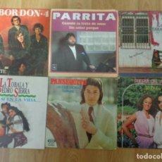 Discos de vinilo: LOTE 11 SINGLES DE RUMBA CATALANA, FLAMENCO, GITANEO, GIPSY.... Lote 145137850