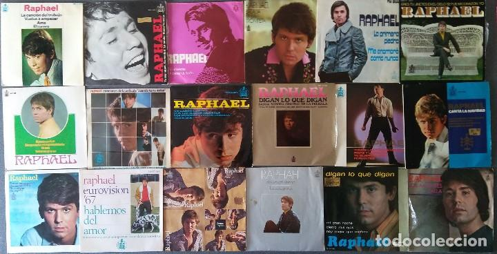 LOTE SINGLES RAPHAEL (Música - Discos de Vinilo - EPs - Solistas Españoles de los 70 a la actualidad)