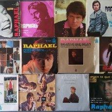 Discos de vinilo: LOTE SINGLES RAPHAEL. Lote 145147270