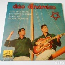 Discos de vinilo: DUO DINAMICO, EP, VIVIR, AMAR, SOÑAR + 3, AÑO 1960. Lote 145153866