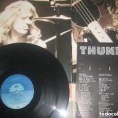 Discos de vinilo: THUNDERHEAD - BEHIND THE EIGHT - BALL - (INTERCORD 1989 )OG . GERMANY - PORTADA ABIERTA ES UN POSTER. Lote 145177250