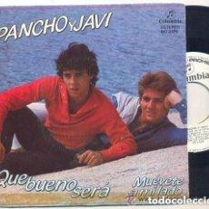 Discos de vinilo: PANCHO Y JAVI: QUE BUENO SERA + MUEVETE A MI LADO, SINGLE PROMO SPAIN 1983. Lote 145180606