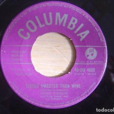 Discos de vinilo: JIMMIE RODGERS - KISSES SWEETER THAN WINE / BETTER LOVED YOU'LL NEVER BE - SINGLE UK 1957. Lote 145189278