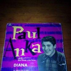 Discos de vinilo: PAUL ANKA. DIANA. NO JUEGUES CON EL AMOR. DIME QUE ME QUIERES. TE QUIERO, PEQUEÑA. MRV. Lote 254134180