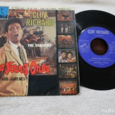 Discos de vinilo: CLIFF RICHARD AND THE SHADOWS THE YOUNG ONES SINGLE VINYL MADE IN SPAIN 1967. Lote 145222910