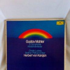 Disques de vinyle: GUSTAV MAHLER 5A SINFONÍA KARAJAN. Lote 145230741