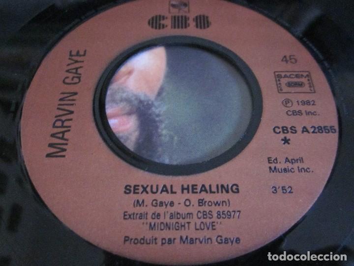 Discos de vinilo: MARVIN GAYE - SEXUAL HEALING - SN - EDICION FRANCESA DEL AÑO 1982. - Foto 3 - 145239366
